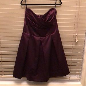 After six strapless gown size 22 purple